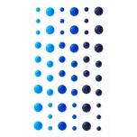 Emaileeritud iseliimuv poolpärl sinine