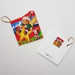 """Väike jõulukaart sädelusega """"Mõmmi tähekesega"""""""