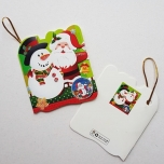 """Väike jõulukaart sädelusega """"Lumememm ja jõulumees"""""""
