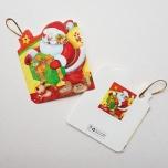 """Väike jõulukaart sädelusega """"Jõulumees kingitusega"""""""