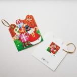 """Väike jõulukaart sädelusega """"Lumememm kingitustega"""""""