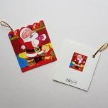 """Väike jõulukaart sädelusega """"Jõulumees mõmmiga"""""""