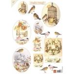 """A4 paber """"Linnud puuriga"""" MB0154-0155"""