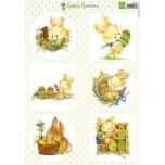 "A4 paber ""Easter Bunnies"" vk9555"
