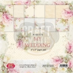 "Craft&You paberiplokk 6*6 ""My Wedding"" 36 lehte"