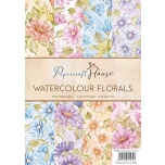 "Disainpaberid ""Watercolor florals""  A4 40 lehte"