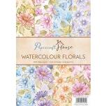 """Disainpaberid """"Watercolor florals""""  A4 40 lehte"""