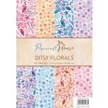 """Disainpaberid """"Ditsy florals""""  A4 40 lehte"""