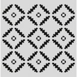 "Šabloon 15*15 cm ""Rombikesed"" 470.801.041"