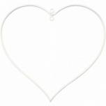 Traadist valge südamekujuline rõngas 13*12 cm