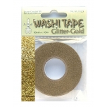 Washi Tape glitter kuldne 10mm*10m