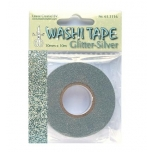 Washi Tape glitter hõbedane 10mm*10m