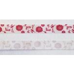 "Dekoratiivpael ""Punane lill valgel taustal"" 15mm"