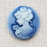 Kamee Daamiga sinine 3cm