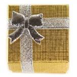 Kinkekarp sõrmusele kuldne hõbedase lipsuga 4*4*3cm