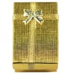Kinkekarp kõrvarõngastele kuldne 5*8*2,5cm