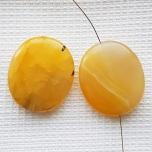 Ahhaat värvitud kollane 30*35 mm 1tk