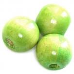 Puupärl ümar 15*16 mm heleroheline 20 tk