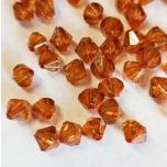 Sünteetiline pärl Bicone pruun 6mm