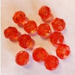 Sünteetiline pärl punane 16 mm 12 tk