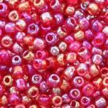 Klaashelmes 2mm AB-läikega punane mix  20g