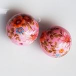 Tensha 16mm roosa helmes lilledega