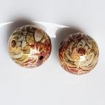 Tensha 16mm vaskne helmes kuldlilledega