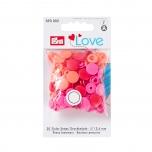 Plastmassist trukid Love puna/roosa 30tk