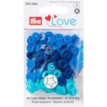Plastmassist trukid Love täht tumesini-sini-hele 30tk