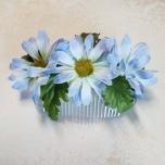 Juuksekamm siniste lilledega