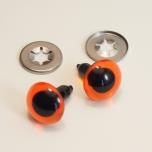 Turvasilmad oranžid musta pupilliga 2tk