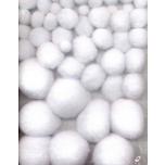 Pom-pom pallikesed valge 50tk 1,0-2,5mm