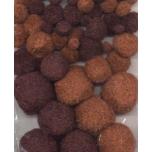 Pom-pom pallikesed pruun 50 tk 1,0-2,5mm