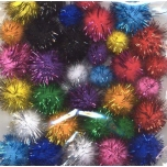 Pom-pom tutikeded 33tk kirju 1,5-2,0mm