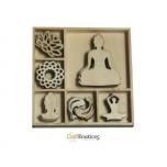"""Puidust kaunistused """"Buddha"""""""