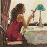 "Tikkimiskomplekt ""Roos ja vein"" 27*27 cm M435"