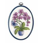 """Tikkimiskomplekt koos raamiga """"Orhideed"""" 19*15 cm"""