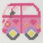 "Tikkimiskomplekt First Kits ""Autobuss"" 10*10 cm"