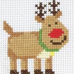 "Tikkimiskomplekt First Kits ""Rudolph"" 10*10 cm"