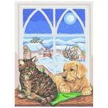 "Ristpistes tikkimispilt ""Koer ja kass""  40*50cm 10310"