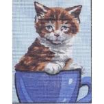 "Ristpistes tikkimispilt ""Kass tassis""  20*25cm 3269"