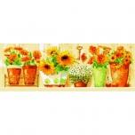 """Ristpistes suur tikkimispilt """"Kollased lilled""""  35*80cm 9003"""