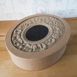 Reljeefse kaanega karp 24*20*6,2 cm