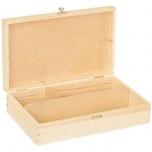 Puidust karp sektsioonidega 27x 16x 6,5cm