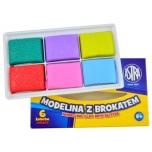 Polümeersavi komplekt sädelusega 6 värvi *20g